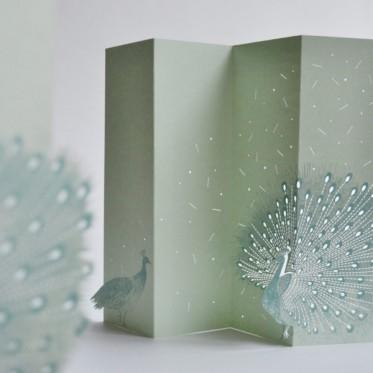 Porigami Grußkarte Peacock