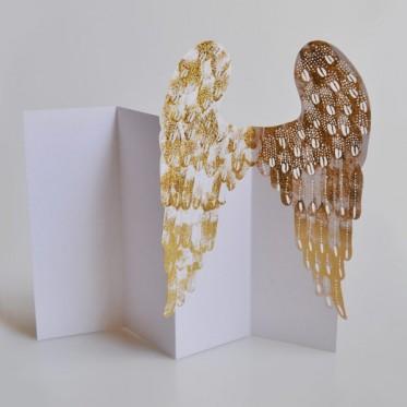 Porigami Grußkarte Angel