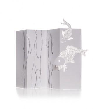 Porigami Grußkarte Carp