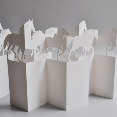 Porigami Grußkarte Horse