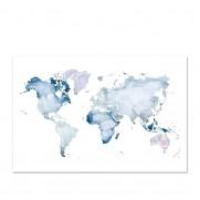 Kunstdruck WORLD MAP