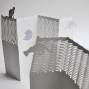 Porigami Grußkarte Cat