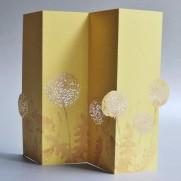 Porigami Grußkarte Dandelion